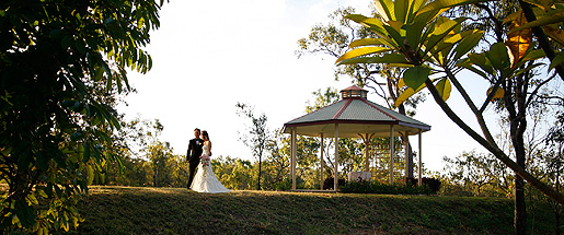 Wedding Shot at Gazebo